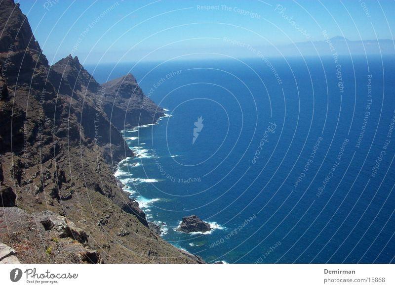wunderbar:2 schön Ferien & Urlaub & Reisen Spanien Gran Canaria Wasser blau Himmel Stein Felsen