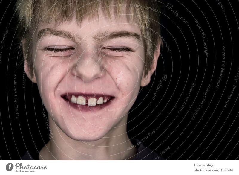 Vorfreude ist die beste Freude Kind Leben Lust rein Wahrheit Überraschung Spannung Zähne Lebensfreude Jugendliche