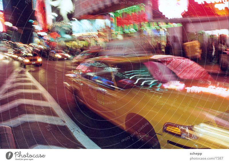 TIMES SQUARE2 Bewegung Aktion USA Amerika Zeit New York City Taxi Nordamerika New York State Times Square