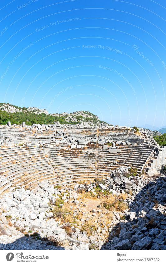Antalya-Truthahnasien-Himmel und -ruinen Ferien & Urlaub & Reisen Berge u. Gebirge Theater Kultur Natur Pflanze Baum Blume Felsen Kleinstadt Ruine Architektur