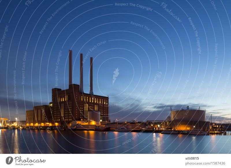 Svanemolle-Kraftwerk in Kopenhagen, Dänemark Stadt Energie Industrie Abenddämmerung ökologisch Station Umweltverschmutzung Heizung heizen Vorrat Emission