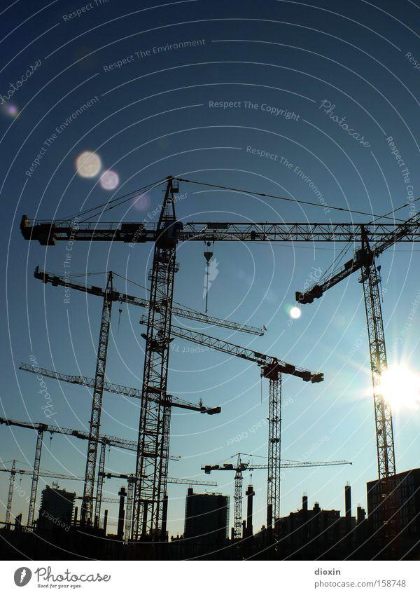 Bau-Boom Stadt Architektur Entwicklung Baustelle Fluss bauen Kran Rhein Unternehmen Wirtschaftskrise Ludwigshafen Stadtentwicklung Uferpromenade Bauunternehmen