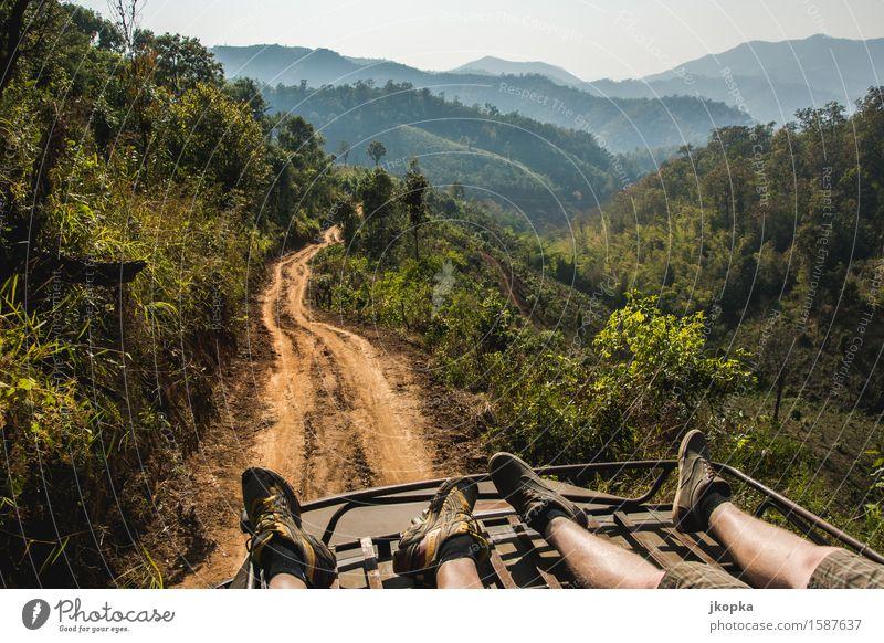 Reisen durch die Berge von Nord-Thailand Mensch Natur Ferien & Urlaub & Reisen Baum Landschaft Ferne Berge u. Gebirge Straße Wege & Pfade Freiheit Wohnung
