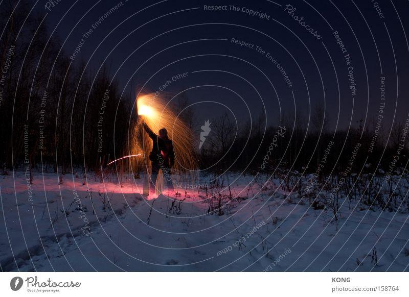 I am on fire Lampe Schnee Beleuchtung Brand Feuer Kommunizieren Silvester u. Neujahr Feuerwerk führen Wachsamkeit Feste & Feiern Wegweiser Signal Wasserfontäne Fackel Irrlicht