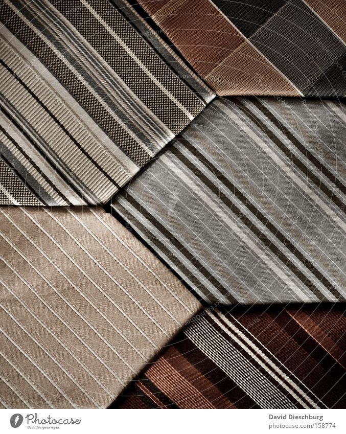 Schlips o'clock Farbe Stil Mode Linie elegant Design Bekleidung Streifen Stoff diagonal gestreift Krawatte Muster Accessoire Stoffmuster Nadelstreifen