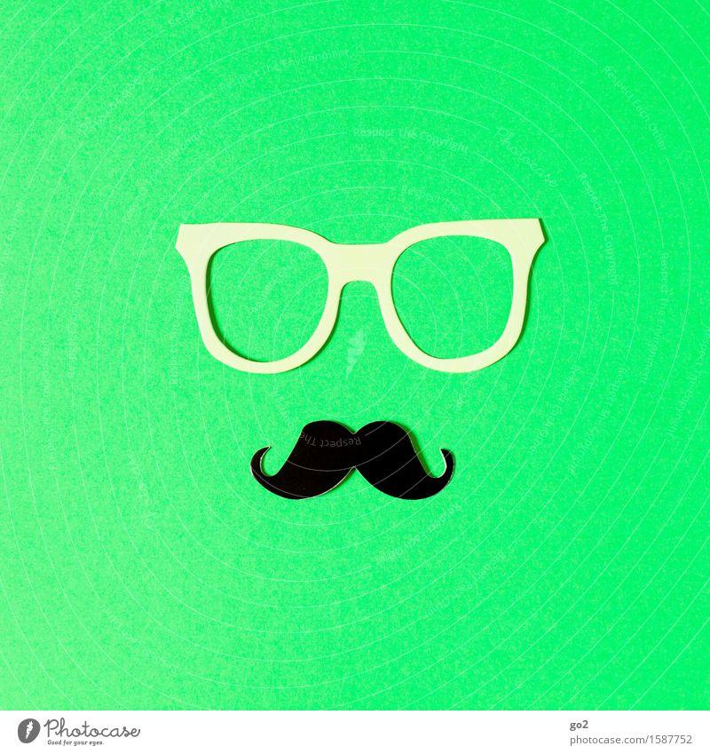 Luc Lifestyle Stil schön Körperpflege Freizeit & Hobby Basteln maskulin Accessoire Brille Oberlippenbart außergewöhnlich einzigartig Klischee grün ästhetisch
