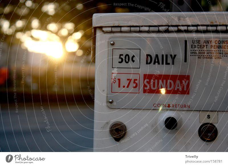 Daily Sunday Sonne Kommunizieren Zeitung Information Medien Sonntag Neuanfang Sinn Hawaii USA