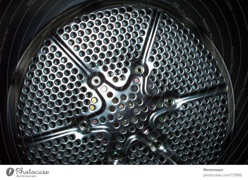 Waschmaschine Loch Stil Elektrisches Gerät Technik & Technologie Metall silber Wäsche waschen Waschtag