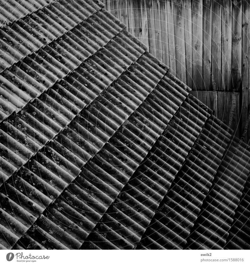 Lebenslinien alt Wand Gebäude Holz Mauer Stein Zusammensein Zufriedenheit groß Vergänglichkeit Dach fallen viele Kontakt Konzentration Reihe