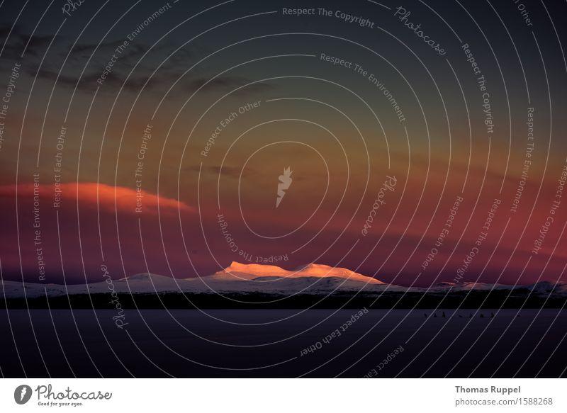 Elgå Ferien & Urlaub & Reisen Tourismus Ausflug Abenteuer Ferne Freiheit Umwelt Natur Landschaft Wolken Sonnenaufgang Sonnenuntergang Sonnenlicht Winter