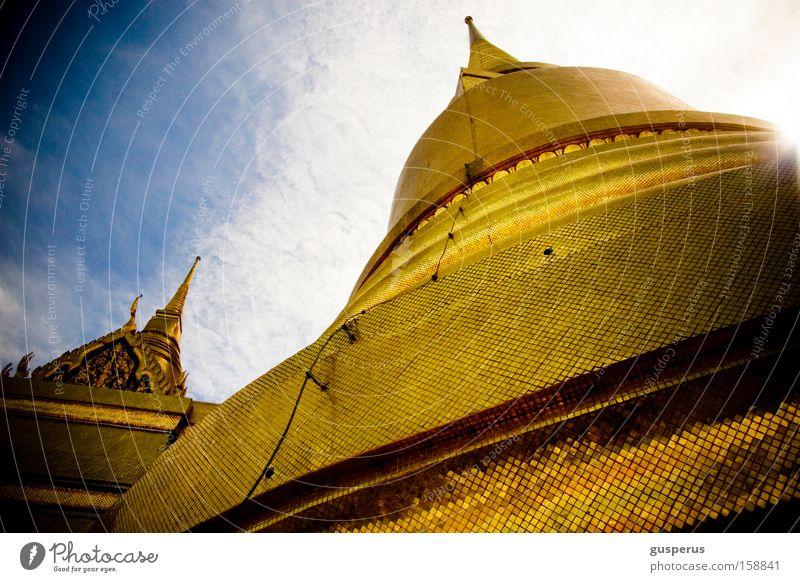 big hat Hut Dach Tempel historisch Gotteshäuser Asien Turm gold roof temple