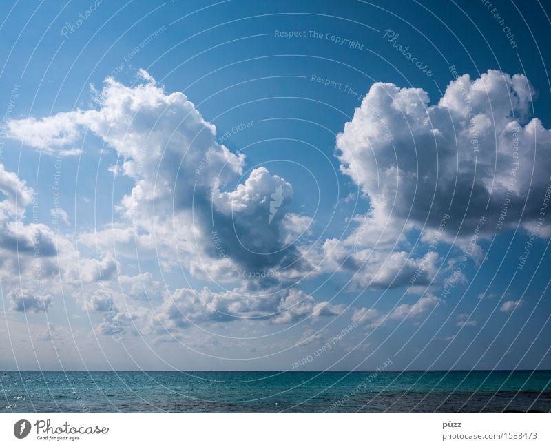 Wolken Himmel Natur blau Wasser weiß Meer Erholung Landschaft ruhig Ferne Umwelt Küste Freiheit Schwimmen & Baden Horizont
