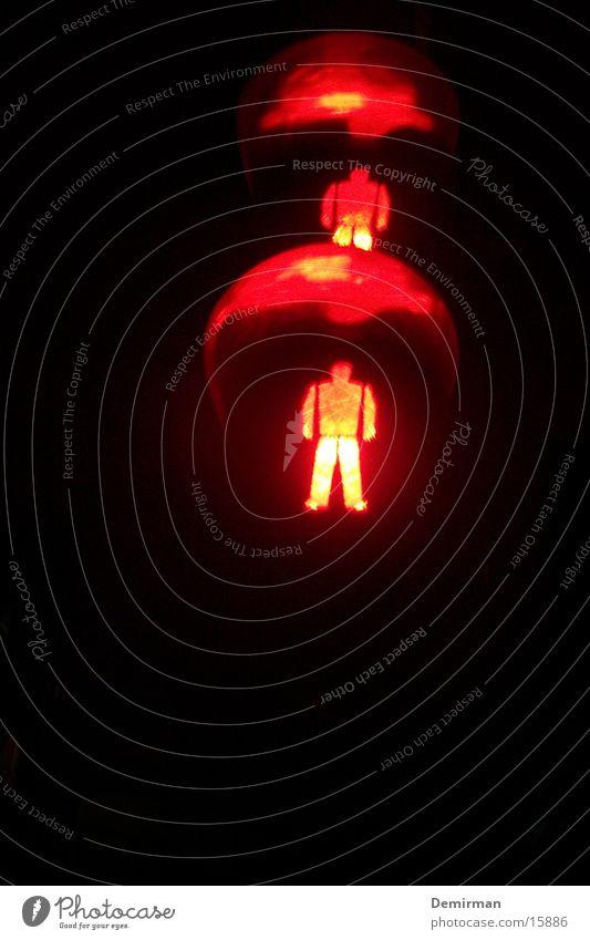ampel rot Verkehr stoppen Dinge Zeichen Ampel Halt