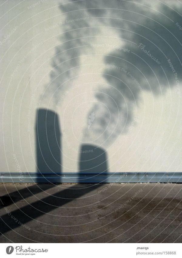 Dampf ablassen Umwelt Wand Energiewirtschaft Energie Industrie Abgas Schornstein Klimawandel Umweltverschmutzung aufsteigen heizen Smog Emission Ozon beschmutzen Energiesparer