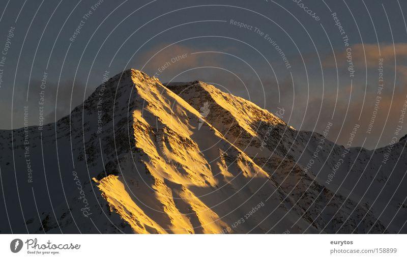 Alpenglühen Himmel Sonne Schnee Berge u. Gebirge Kraft Wetter groß Horizont Schweiz Gipfel Sonnenaufgang Panorama (Bildformat) Gletscher