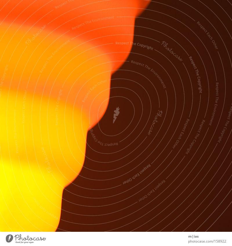 Sommersonnenwende Licht Lampe gelb orange rot Farbverlauf Wärme Muster Design Abenddämmerung Strukturen & Formen Hintergrundbild Detailaufnahme