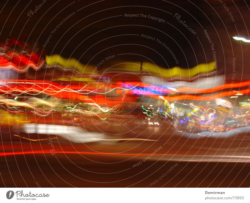 reeperbahn 01 Farbe Deutschland Europa Stadtteil Ampel St. Pauli Belichtung Stadt Reeperbahn