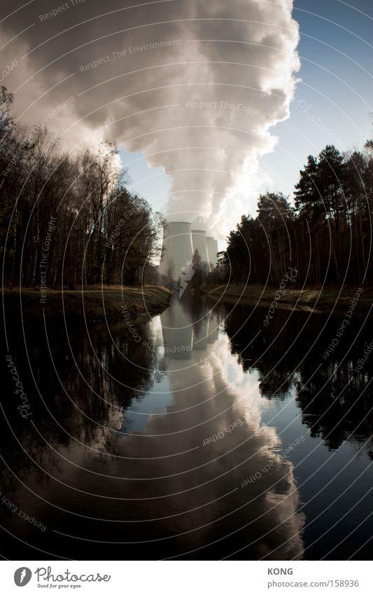 klimawandlungsmaschine Himmel Wolken Denken Wetter groß Industrie Energiewirtschaft Elektrizität Industriefotografie Klima Wasser Wasserdampf Klimawandel Stromkraftwerke Koloss Heizkraftwerk