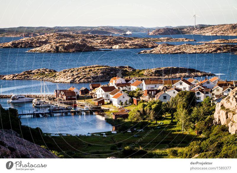 Insel in den Schären von Schweden Umwelt Natur Landschaft Pflanze Tier Sommer Schönes Wetter Wellen Küste Bucht Fjord Ostsee Haus Schifffahrt Fischerboot