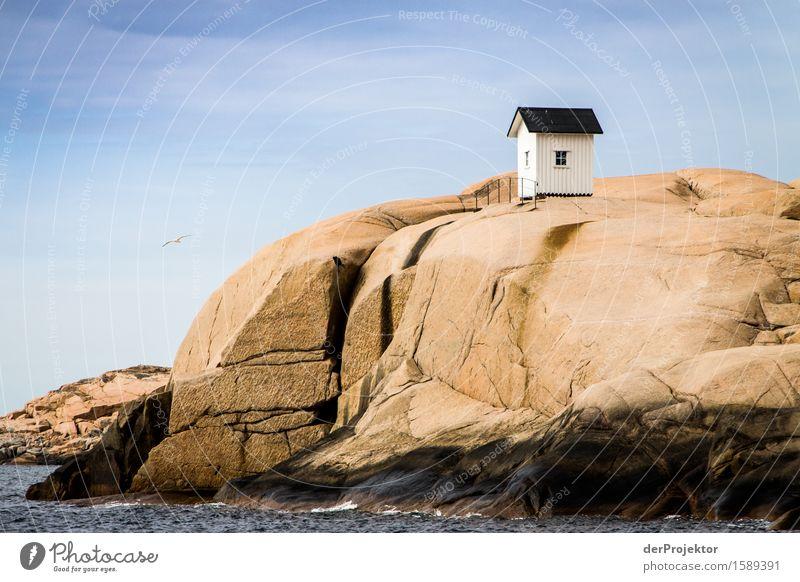 Fischerhütte auf Felsen in den Schären Ferien & Urlaub & Reisen Natur Sommer Pflanze Landschaft Ferne Umwelt Küste Tourismus Freiheit Ausflug Wellen Insel
