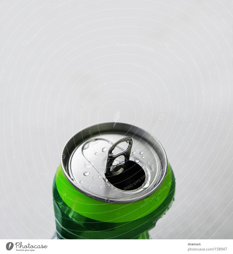 offen für alles grün Metall Design frisch Getränk Metallwaren einfach Müll Erfrischung Alkohol silber Umweltschutz Dose Durst Recycling