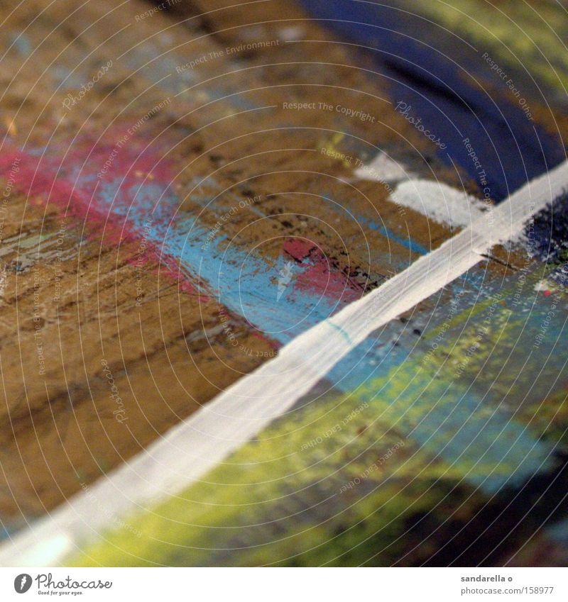 The White Stripe weiß blau Farbe Holz Farbstoff Linie Kunst Tisch Kreuz Gemälde Pinsel Straßenkreuzung Wegkreuzung Maserung kreuzen Kunsthandwerk