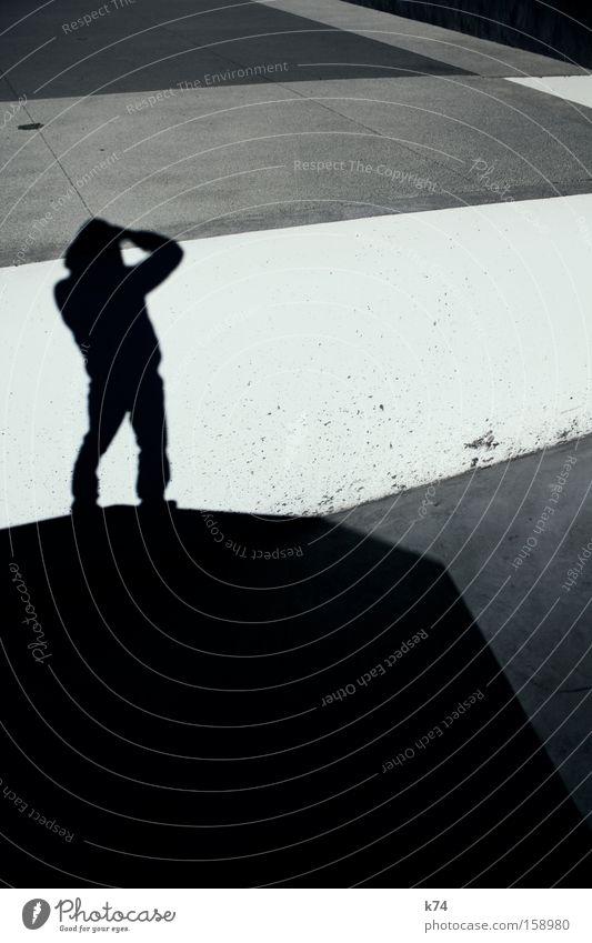 vista Aussicht Landschaft Beton grau abstrakt Geometrie Linie Stadt Mensch stilistisch Silhouette Schatten Verkehrswege