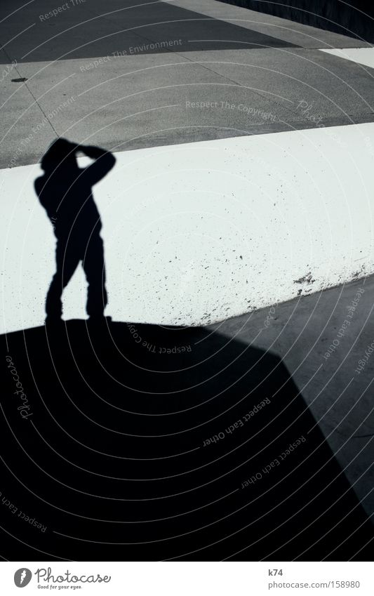 vista Mensch Stadt grau Landschaft Linie Beton Aussicht Verkehrswege Geometrie stilistisch