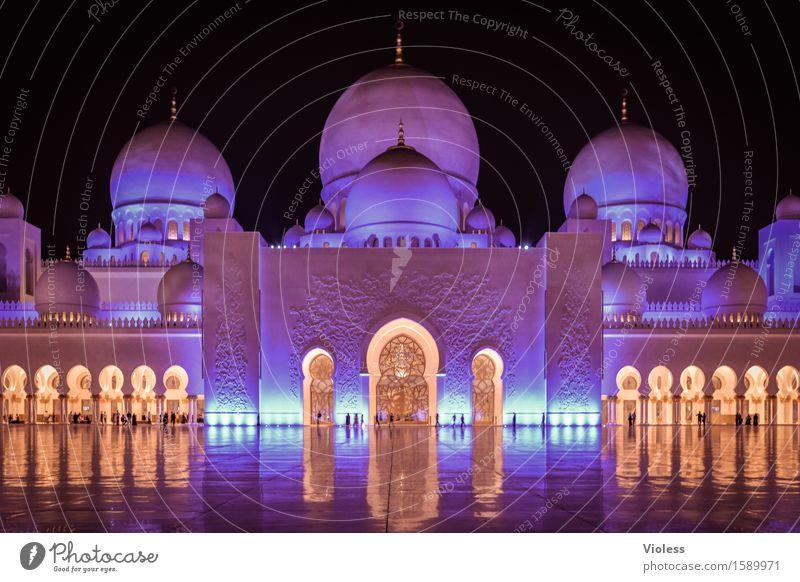 1001 Nacht VII blau Architektur Religion & Glaube Gebäude außergewöhnlich ästhetisch Macht violett Wahrzeichen Hauptstadt Sehenswürdigkeit Islam Moschee