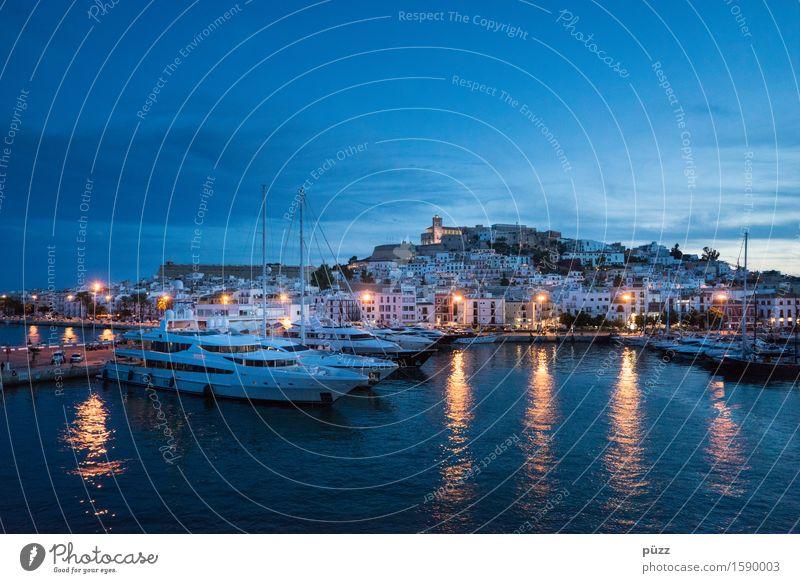 Ibiza Ferien & Urlaub & Reisen Stadt Sommer Wasser Meer Stil Feste & Feiern Wasserfahrzeug Tourismus Insel Hafen Dorf Hauptstadt Sommerurlaub Schifffahrt
