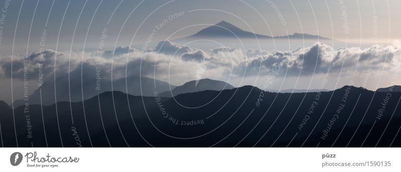 Pico del Teide Ferien & Urlaub & Reisen Tourismus Ausflug Ferne Freiheit Insel Berge u. Gebirge Umwelt Natur Landschaft Urelemente Luft Himmel Wolken Klima