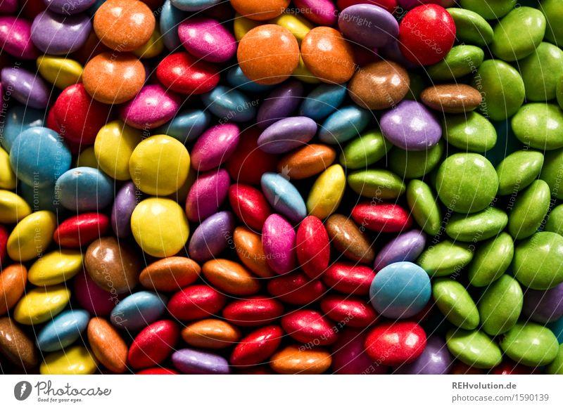 grün Kindheit süß viele lecker Süßwaren Schokolade Geschmackssinn Haufen Schokolinsen Dragees