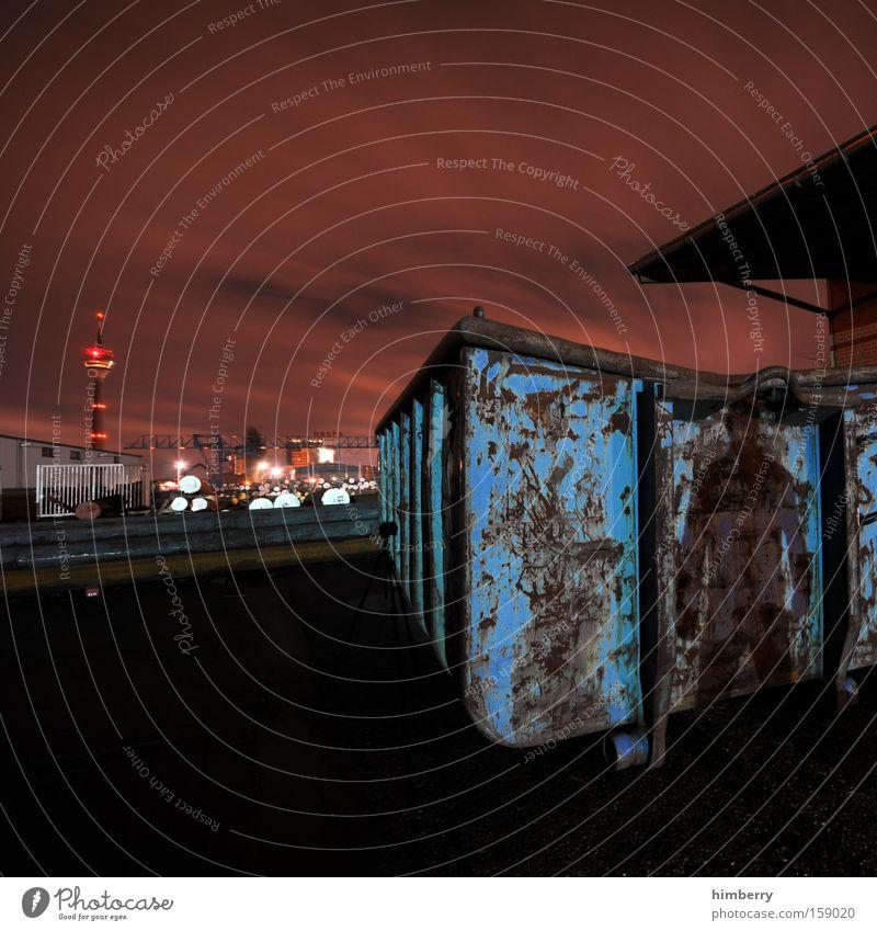 schattenseite Industrie Industriefotografie Müll Düsseldorf Container Kriminalität Schichtarbeit Industrielandschaft Schattenseite