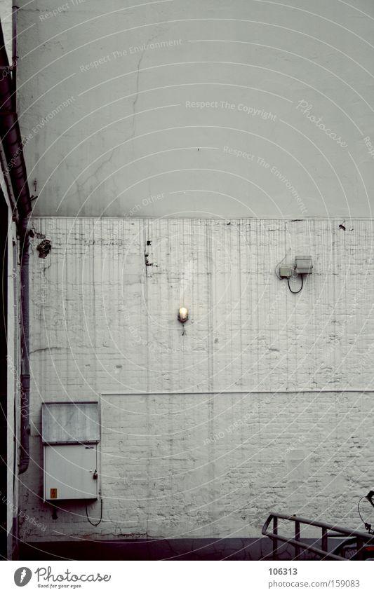 belangloserererer Mist Wand grau Gebäude Ecke Dienstleistungsgewerbe Nische