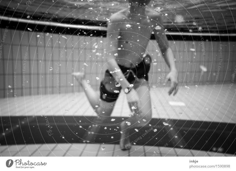 Luftbläschen Schwimmbad Schwimmen & Baden Junge Junger Mann Jugendliche Kindheit Leben Körper 1 Mensch 13-18 Jahre 18-30 Jahre Erwachsene Luftblase