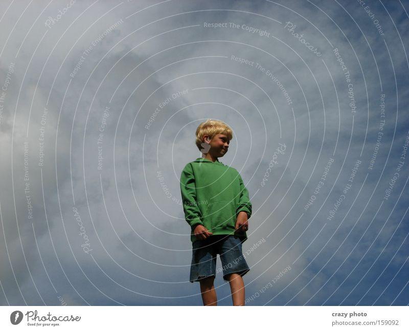 In den Wolken... Kind Himmel Freude Wolken Ferne Junge Freiheit Glück frei
