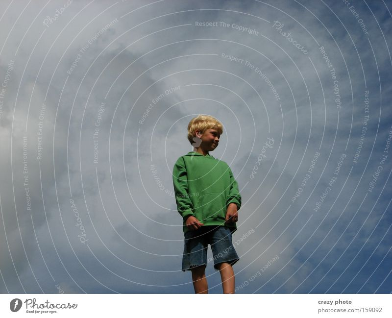 In den Wolken... Kind Himmel Freude Ferne Junge Freiheit Glück frei