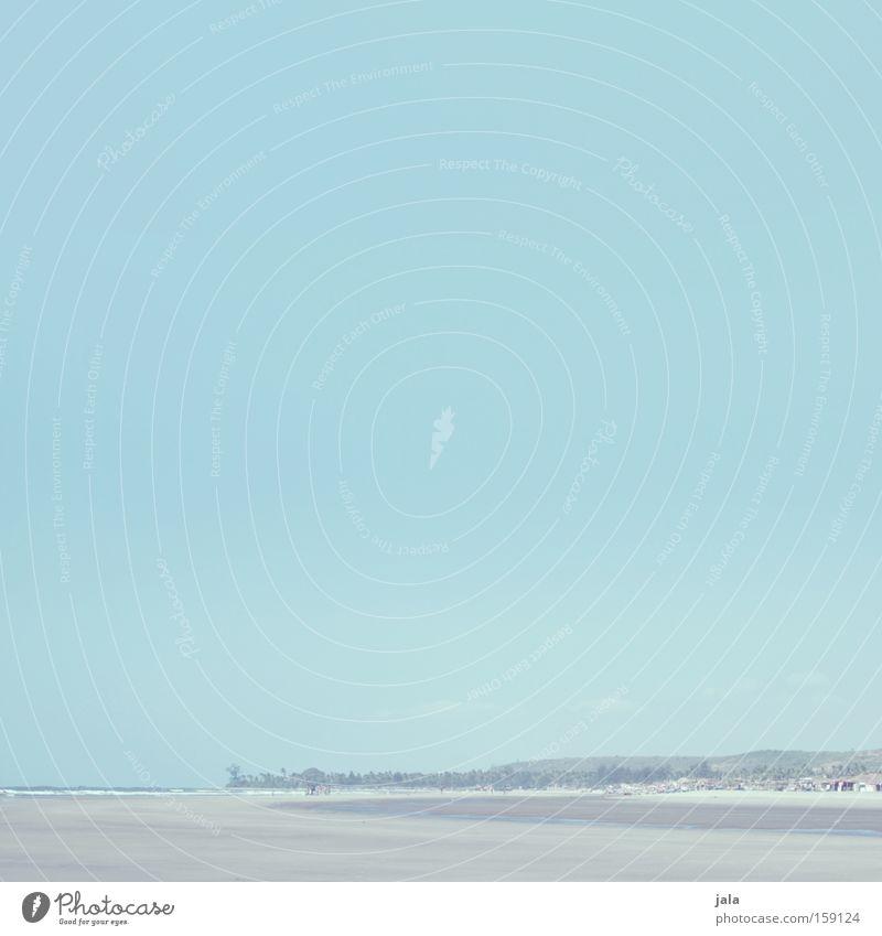 Urlaub Horizont Ferne Licht Meer Strand Palme Ferien & Urlaub & Reisen ruhig Frieden Indien blau Freiheit Küste friedlich Schnee