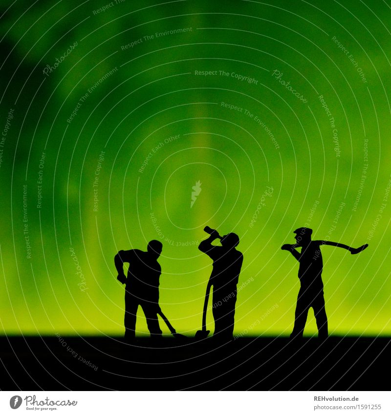 grüne power Mensch Mann Erwachsene Bewegung Gesundheit Zusammensein Arbeit & Erwerbstätigkeit maskulin 45-60 Jahre Baustelle Beruf Konzentration Stress Teamwork