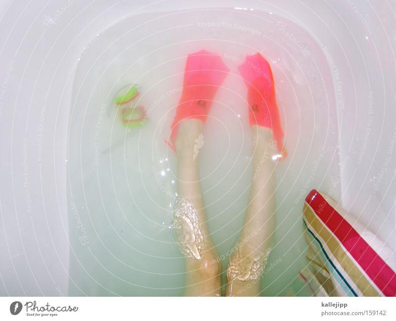 ich bin die fee im see Kind Wasser Freude nackt Spielen Beine Haut Bad Sauberkeit Schwimmen & Baden Spielzeug Schwimmhilfe Taucherbrille Sport