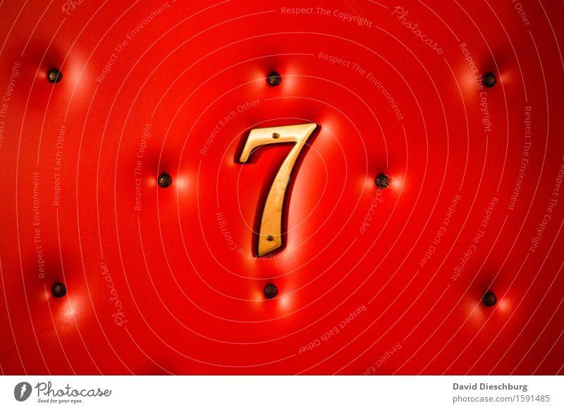 seven Ferien & Urlaub & Reisen Tourismus Sightseeing Städtereise Dienstleistungsgewerbe Tür Ziffern & Zahlen gelb gold rot schwarz Prostituierte Zuhälter