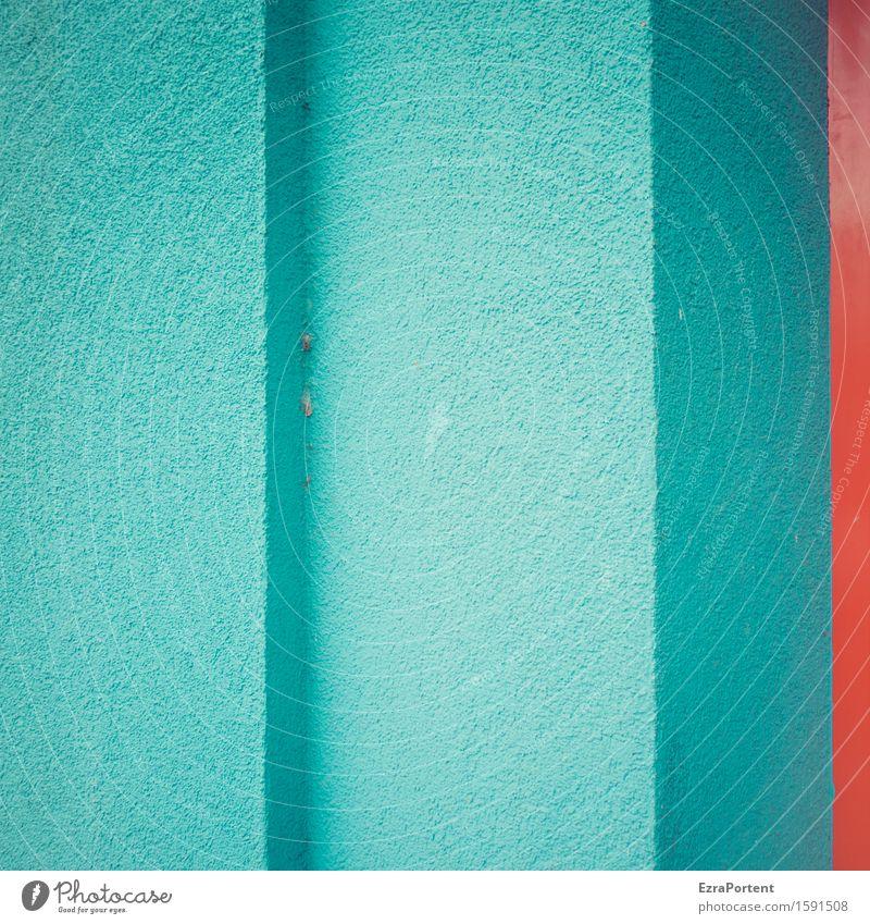Eck Eck roter Streifen blau Farbe Haus Architektur Wand Gebäude Mauer Linie Fassade Design Beton Ecke Grafik u. Illustration Bauwerk