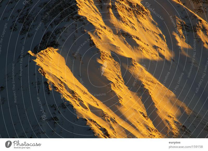 morgen in den Bergen Berge u. Gebirge Morgen Sonnenaufgang Gletscher Wetter Gipfel Schnee