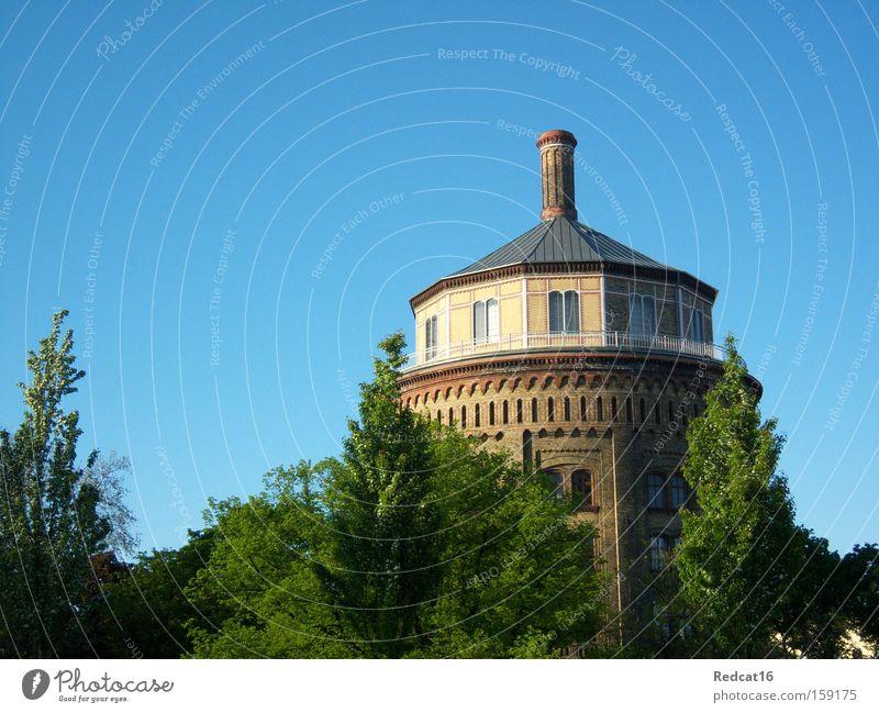 Ach Wasserturm, wie bist du schön! Himmel Baum Sommer Berlin Frühling Turm Sträucher Denkmal Wahrzeichen Prenzlauer Berg
