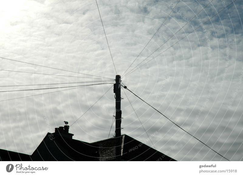 himmelsstrom Elektrizität Wolken Industrie Himmel Kabel Sonne