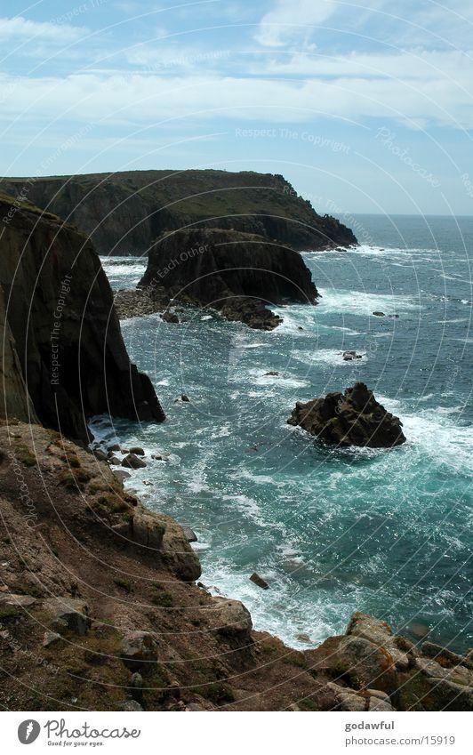 Küstenbrandung Wasser Felsen England Brandung