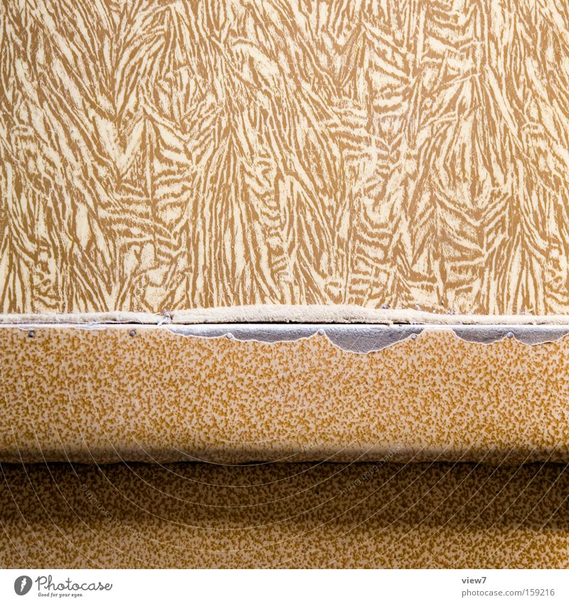 Schwelle schön alt Raum Ordnung Boden Bodenbelag Spuren Detailaufnahme Flur Oberfläche Wechseln zerstören nützlich Vorteil Linoleum