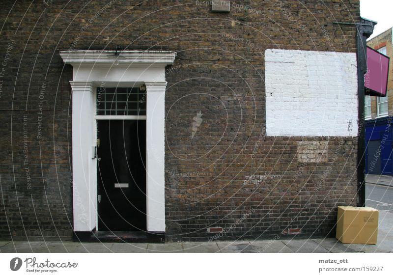 a door in the wall Stadt Haus Wand Stein Mauer Architektur Tür Verkehrswege London Karton England Nottinghill