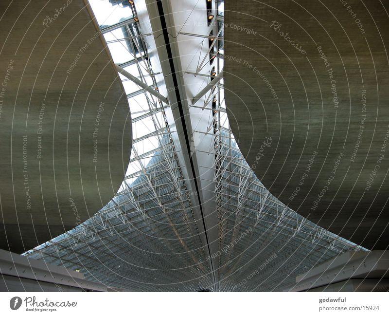 flughafen paris Architektur Beton Paris Flughafen Stahl Decke Träger