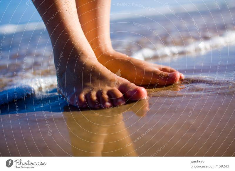 Schöner Ort Fuß Meer aussruhen Leben Brasilien Resort Hotel Recife Sommer Gesundheit Makroaufnahme Nahaufnahme Wasser Bräunen